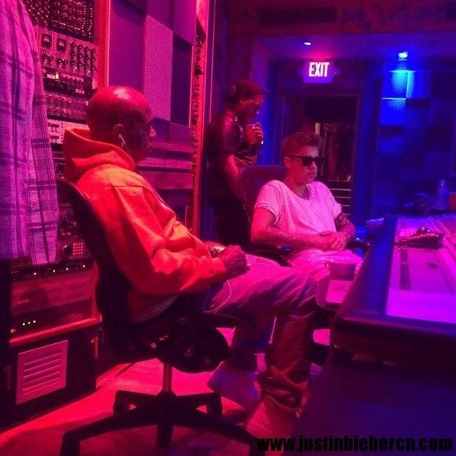 Justin-Bieber-Birdman-Studio